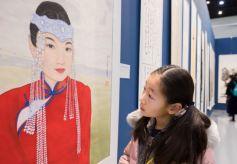 内蒙古庆祝改革开放四十周年书画作品展览开幕