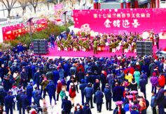 """""""金猪迎春""""兰州年味浓:逛文化庙会 过欢乐新春"""