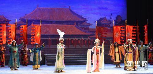 (文化)(1)兰州:京剧《丝路花雨》精彩上演