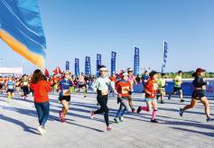 甘肅敦煌:萬人競跑馬拉松