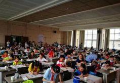 七里河区举办第二届中小学生现场书法大赛