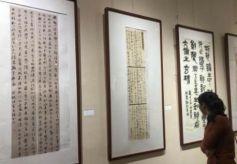 """甘肃办女性书法展传承国粹文化 """"95后""""笔墨叙才情"""