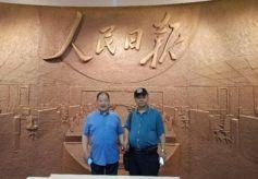甘肃书画艺术家卢首锜赴京拜访军品大王李长东