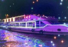 第九届兰州黄河文化旅游节嘉宾昨夜游黄河