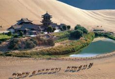 甘肃省河西多地迎来旅游热