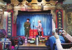 迎國慶蘭州京劇演唱會白塔戲樓舉行