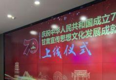"""""""甘肃宣传思想文化发展成就展""""正式上线"""