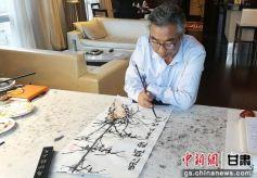 北京书画家挥毫泼墨爱心捐赠 助庆阳乡村教育振兴