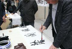 兰州书画名家现场挥毫泼墨 全民共享传统文化盛宴