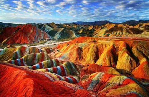 张掖地质公园-彩色丘陵景区