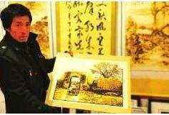 靖远县手工艺画创作者杨耀奎的梦想