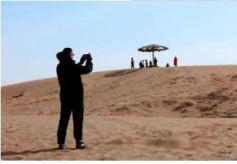 张掖:沙漠公园恢复开放迎春游