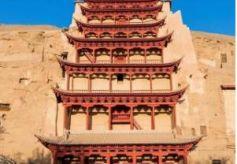 甘肃敦煌历经雪雨风沙,承载千年不朽文化