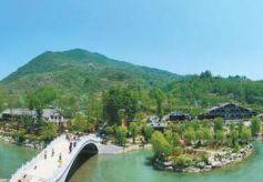 甘肃省乡村旅游示范村康县花桥村风景如画