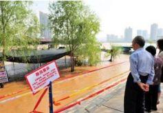 中山桥流量将达到2700立方米/秒左右