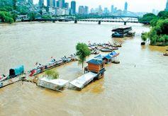 黄河上游降水来水持续增加 黄河兰州段水位回落还需半月左右