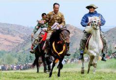 甘肃肃南:牧民赛马会助力乡村旅游