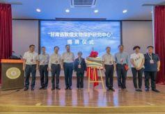 甘肃省敦煌文物保护研究中心正式揭牌成立