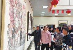 """""""大河魂——蘭州畫院美術作品展""""在張掖市美術館舉行"""