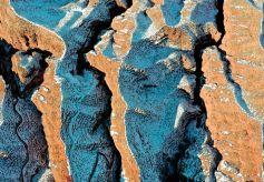 平山湖大峽谷:白雪丹霞總相宜