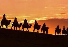敦煌大漠美景如画